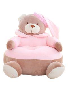Pluszowy fotelik dla dziecka różówy miś zdjęcie 1