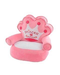 Pluszowy fotelik dla dziewczynki tron zdjęcie 1