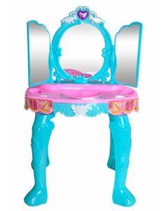Toaletka dla dziewczynek  3 lustra niebieska - zdjęcie nr 1