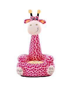 Pluszowy fotel dla dzieci Żyrafa różowa - zdjęcie 1