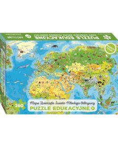 Puzzle dla dzieci Zwierzęta Świata Młodego Odkrywcy Art Glob - zdjęcie 1