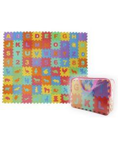Puzzle piankowe mata cyferki alfabet 72 el duży zestaw - zdjecie 1