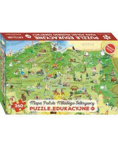 Puzzle dla dzieci Mapa Polski Młodego Odkrywcy Art Glob - zdjęcie 1