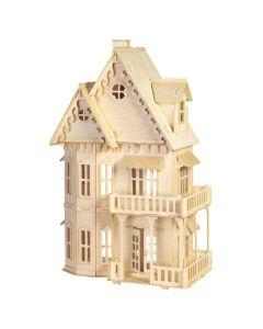 Domek gotycki puzzle drewniane 3D - zdjęcie 1
