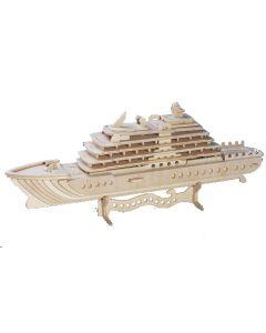 Jacht puzzle drewniane 3D zdjęcie 1