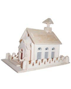 Kościół puzzle drewniane 3D - zdjęcie 1