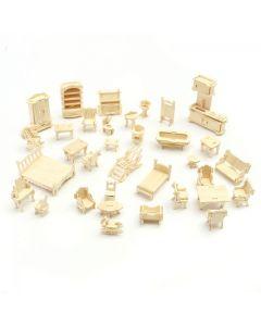 Mebelki dla lalek puzzle drewniane 3D