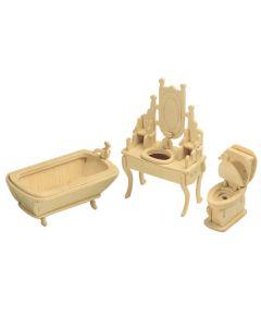 Mebelki łazienka puzzle drewniane 3D - zdjęcie 1