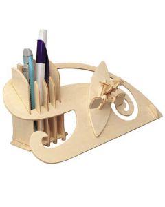 Piórnik kajak puzzle drewniane 3D - zestaw kreatywny dla dzieci - zdjęcie 1