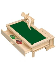 Piórnik snooker puzzle drewniane 3D zdjęcie 1