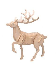 Renifer puzzle drewniane 3D - zdjęcie 1