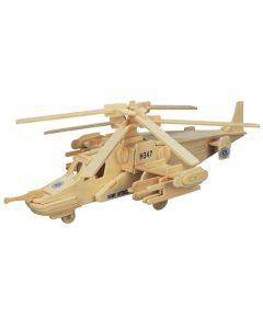 Śmigłowiec puzzle drewniane 3D - zdjęcie 1