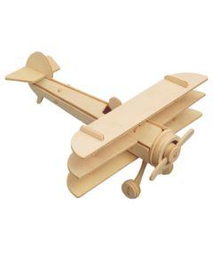 Trójpłatowiec puzzle drewniane 3D -zdjęcie 1
