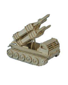 Wyrzutnia rakiet patriot puzzle drewniane 3D - zdjęcie 1