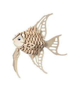 Złota rybka puzzle drewniane 3D