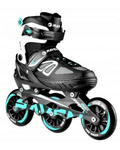 Rolki Raven Advance Black/Mint 38-42 Big Wheels 110mm - zdjęcie 1