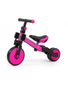 Rowerek 3w1 Milly Mally Optimus Pink  - zdjęcie nr 1