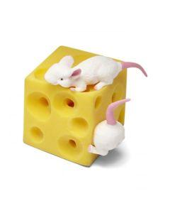Rozciągliwy ser z myszkami gniotek antystresowy - zdjęcie 1