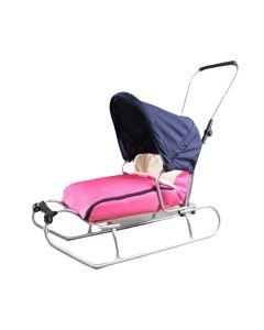 Sanki dla dzieci z oparciem, śpiworkiem i popychaczem Color line - zdjęcie 1