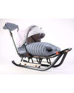 Sanki dla niemowlaka z oparciem i budką Teo&Gigi Prestige Minky - zdjęcie 1