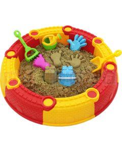 Składana piaskownica dla dzieci + zabawki do piasku Ø700 mm
