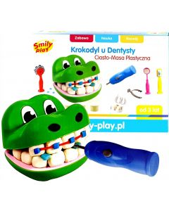 Ciasto-Masa plastyczna Krokodyl u Dentysty Smily Play - zdjęcie 1