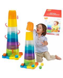 Wieża z piłeczkami Smily Play piramida - zdjecie 1
