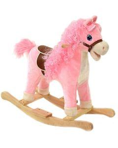 Interaktywny koń na biegunach różowy śpiewający - zdjęcie 1
