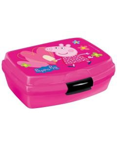 Śniadaniówka pojemnik na kanapki  dla dziewczynki różowy Peppa - zdjęcie 1
