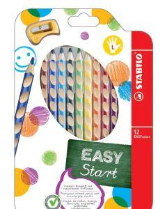 Kredki Easy colors Stabilo 12 szt dla leworęcznych + temperówka - zdjęcie 1