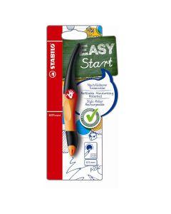 Pióro kulkowe Stabilo Easy start 0.5mm czarno-pomarańczowe dla praworęcznych