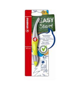Pióro kulkowe Stabilo Easy start 0.5mm stalowo-żółte P