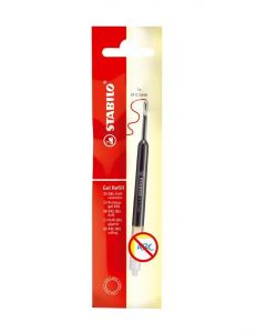 Wkład żelowy do długopisów Stabilo Easygel i Com4gel 0.5 mm czerwony- zdjecie