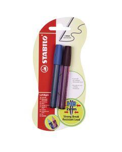 Wkłady i grafity HB do ołówków automatycznych Stabilo 2mm, zestaw 16 sztuk - zdjecie