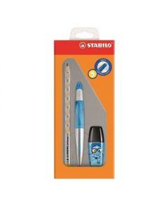 Zestaw szkolny dla leworęcznych Stabilo ołówek+ pióro kulkowe + zakreślacz