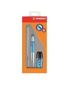 Zestaw szkolny dla praworęcznych Stabilo ołówek+ pióro kulkowe + zakreślacz