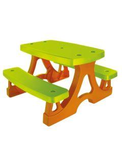 Stolik ogrodowy + ławki piknikowe duży 79 x 78 cm