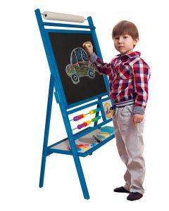 Tablica obrotowa dla dzieci suchościeralno-kredowo-magnetyczna z akcesoriami - zdjecie 1