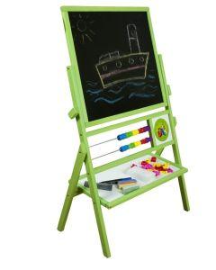 Zielona tablica dla dzieci suchościeralno-kredowo-magnetyczna - zdjęcie 1