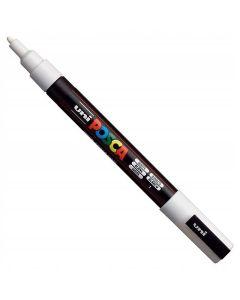 Marker z farbą plakatową Uni Posca PC-3M biały - zdjęcie 1