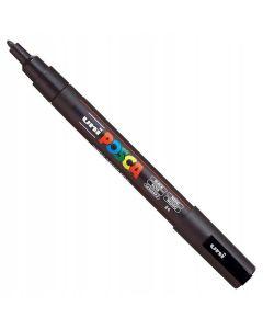 Marker z farbą plakatową Uni Posca PC-3M czarny - zdjęcie 1