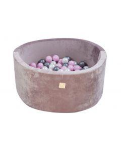 Misioo Velvet Soft suchy basen z piłeczkami okrągły Liliowy  -zdjęcie 1