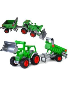 Traktor ładowarka z naczepą Wader Farmer technik - zdjęcie 1