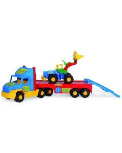 Lora transportowa + spychacz super truck Wader 77,5 cm