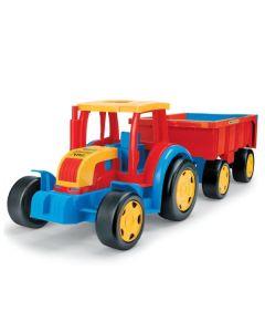 Traktor gigant z przyczepą Wader