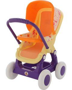 Wózek dla lalek Wader pomarańczowy