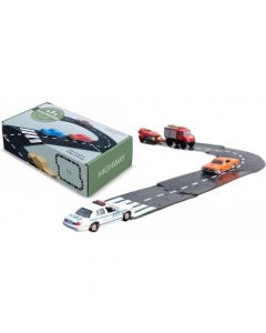 Gumowe tory samochodowe dla dzieci autostrada WayToPlay 24 el - zdjęcie 1