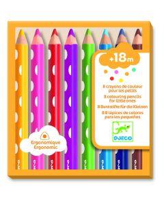 Zestaw 8 kredek dla maluchów marki Djeco - zdjęcie nr 1