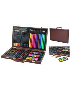 Zestaw artystyczny do malowania 81 szt w walizce - zdjęcie 1