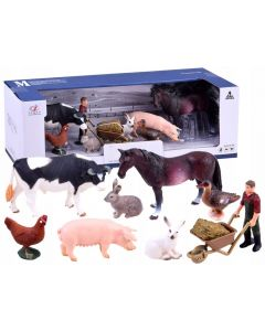 Zestaw malowane zwierzęta zagrodowe farmer figurki - zdjęcie 1